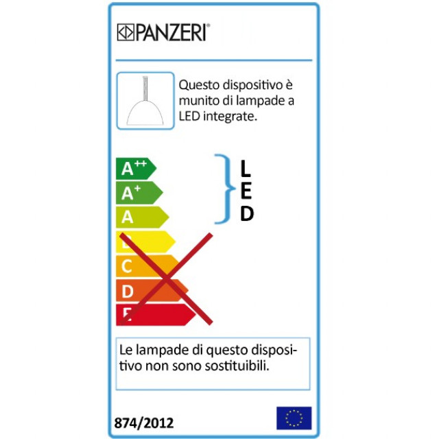 panzeri Planet Ring 70 Incasso Soffitto classe energetica